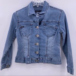 Revolt Jeans Company Stretch Denim Jacket Size M